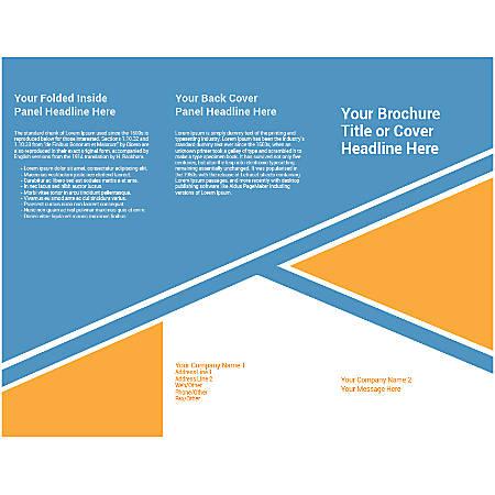 Customizable Trifold Brochure, Orange Design