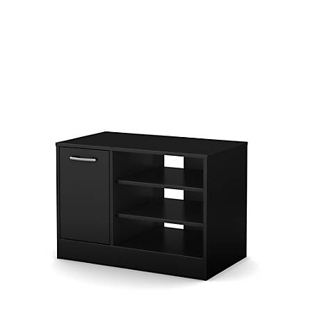 "South Shore Axess TV Stand With Storage For TVs Up To 42"", Pure Black"