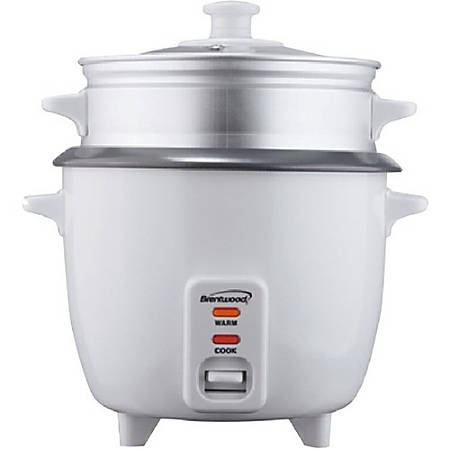 Brentwood TS-380S 10 Cup Rice Cooker and Steamer - White