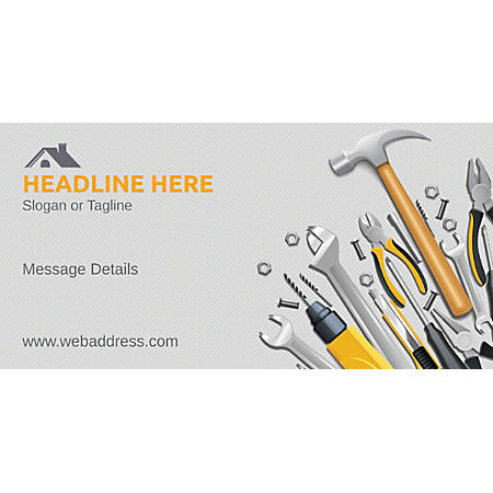 Custom Horizontal Banner, Repair Tools