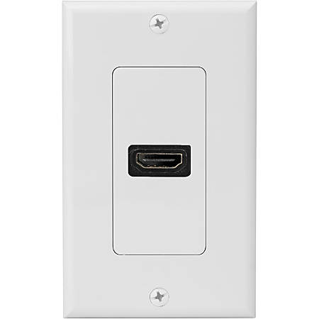 4XEM Single Outlet Female High Speed HDMI Wall Plate with 3D support