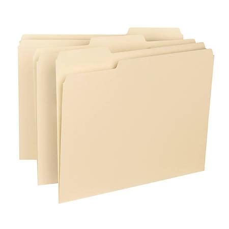 Smead® Interior Folders, 1/3 Cut, Letter Size, Manila, Pack Of 100