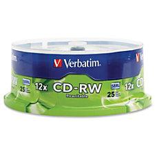 Verbatim CD RW 700MB 4X 12X