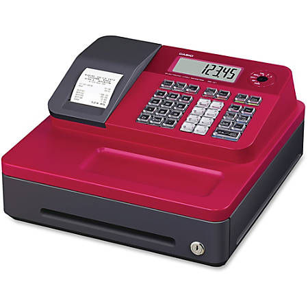 Casio® SEG1SCRD Cash Register With Thermal Printing, Red
