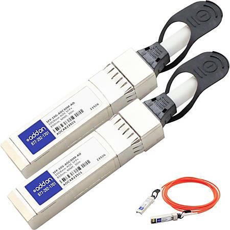 AddOn Cisco SFP-10G-AOC30M Compatible TAA Compliant 10GBase-AOC SFP+ to SFP+ Direct Attach Cable (850nm, MMF, 30m)