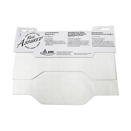Rochester Midland Rest Assured Lever-Dispensed Seat Covers, Pack Of 125