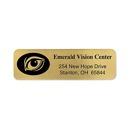 Personalized Rolled Address Labels, Gold, Pack Of 250