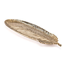 Zuo Modern Feather Tray Large Gold