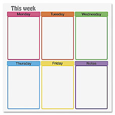 Flipside This Week Clinging Dry erase