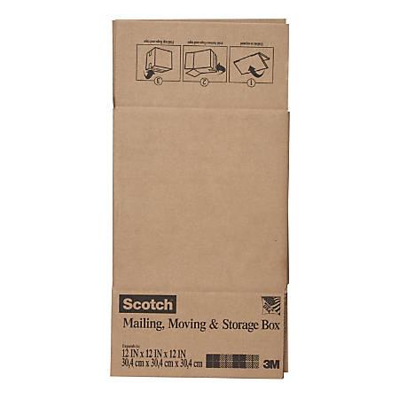 "Scotch® Moving And Storage Box, 12""H x 12""W x 12""D, Brown"