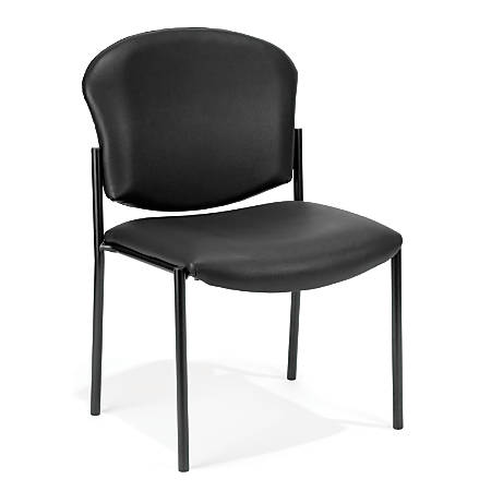 OFM Manor Series Anti-Microbial Anti-Bacterial Guest Reception Chair, Black