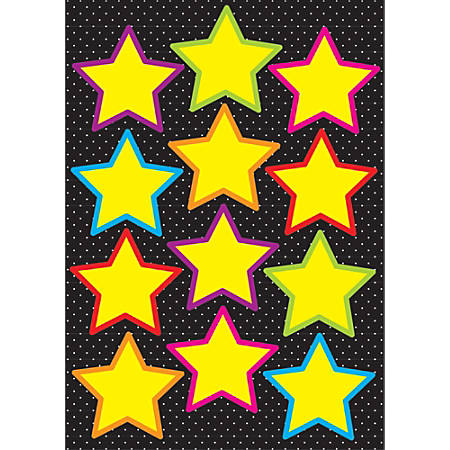 Ashley Productions Die-Cut Magnets, Yellow Stars, Pack Of 12