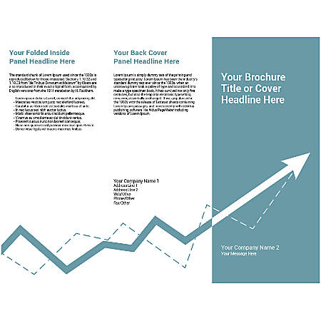 Customizable Trifold Brochure, Stock Change
