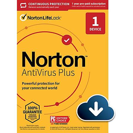 Norton AntiVirus Plus 2GB EN 1 User 1 Device 12 Month