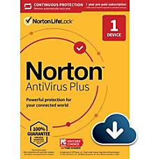 Norton Antivirus Plus For 1 Device