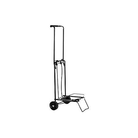 "Conair Folding Multi-Use Cart - Black - Telescopic Handle - 75 lb Capacity - 2 Casters - 3.75"" Caster Size - Steel - Black"