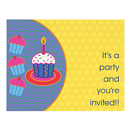 "Custom Full-Color Note Card Invitations, 1-Sided, 5-1/2"" x 4-1/4"", Box Of 10 Invitations"