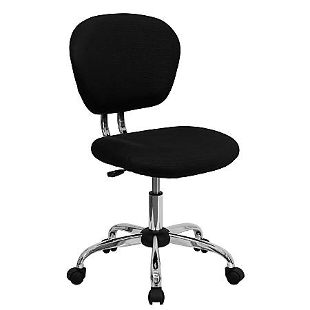 Flash Furniture Mesh Mid-Back Swivel Task Chair, Black/Silver