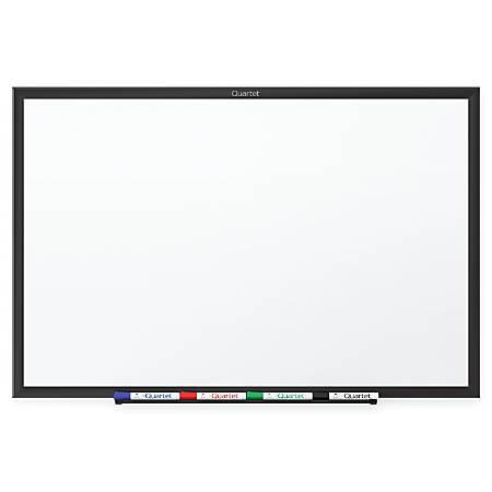 Quartet® Standard Dry-Erase Whiteboard, Melamine, 8' x 4', Black, Aluminum Frame