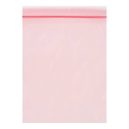 """Office Depot® Brand Antistatic Reclosable Poly Bags, 2 mils, 8"""" x 10"""", Pink, Pack Of 1,000"""