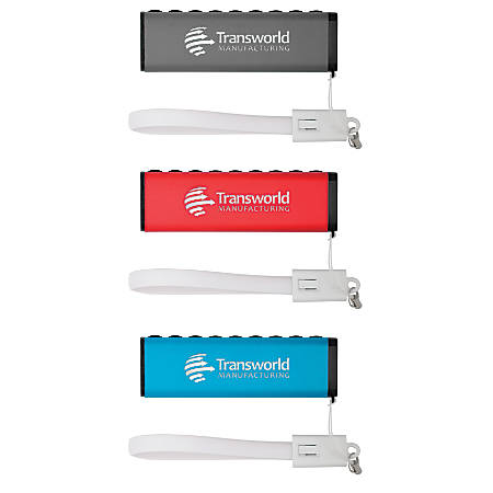 """Suction Support Triangular 2,200 mAh Portable USB Charger, 1 1/4""""H x 3 7/8""""W x 1 1/4""""D"""