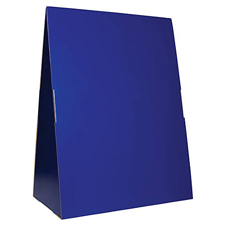 "Flipside Spiral-bound Flip Chart Stand - 14"" Height x 24"" Width x 33"" Depth - Floor, Portable, Tabletop - Blue"