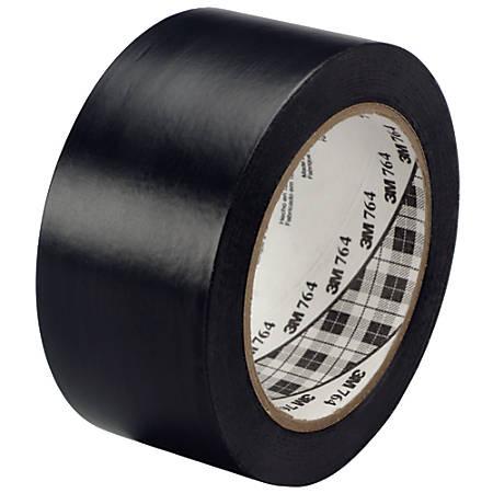 "3M™ 764 Vinyl Tape, 3"" Core, 2"" x 36 Yd., Black, Case Of 24"