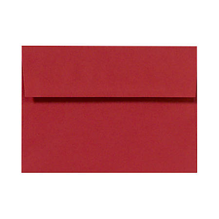 """LUX Invitation Envelopes With Peel & Press Closure, A7, 5 1/4"""" x 7 1/4"""", Ruby Red, Pack Of 500"""