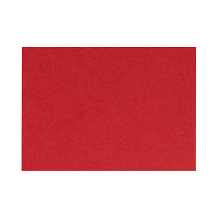 "LUX Flat Cards, A1, 3 1/2"" x 4 7/8"", Ruby Red, Pack Of 500"