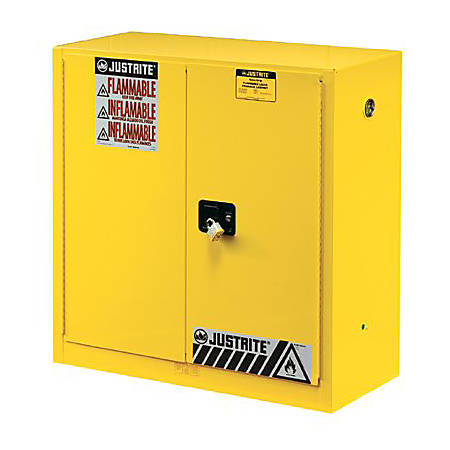 Yellow Safety Cabinets for Flammables, Self-Closing Cabinet, 45 Gallon, 2 Doors