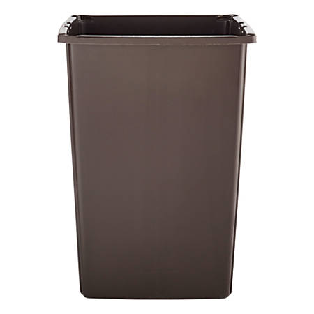 "Rubbermaid® Glutton Rectangular Plastic Waste Container, 56 Gallons, 31 1/8""H x 25 1/2""W x 22 3/4""D, Brown"