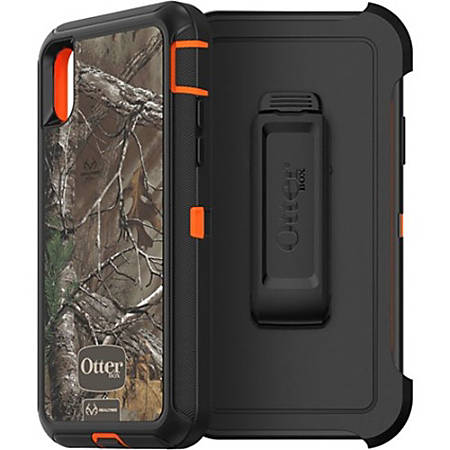 new product 5cf93 593f1 OtterBox Defender Carrying Case (Holster) iPhone X - Realtree Xtra - Wear  Resistant Interior, Drop Proof Interior, Dust Resistant Port, Dirt  Resistant ...