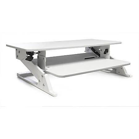 Alba Move HOP! Sit-To-Stand Adjustable Desk Riser, White