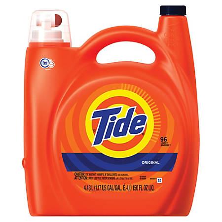 Tide HE Turbo Clean Liquid Laundry Detergent, Original Scent, 150 Oz