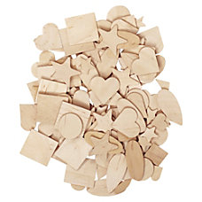ChenilleKraft Natural Wooden Shapes 350 Set