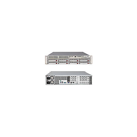 Supermicro A+ Server 2021M-UR+B Barebone System - nVIDIA MCP55Pro - Socket F (1207) - Opteron (Quad-core), Opteron (Dual-core) - 1000MHz Bus Speed - 64GB Memory Support - DVD-Reader (DVD-ROM) - Gigabit Ethernet - 2U Rack