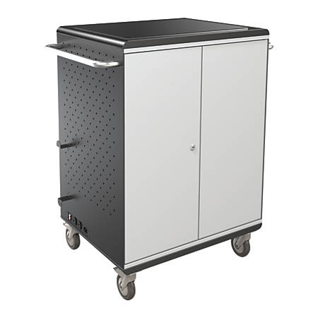 "Balt® A La Cart Steel Tablet Security And Charging Cart, 36.75"" x 31.75"" x 20.13"", Gray, 27698A"