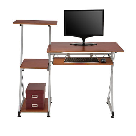 Brenton Studio® Limble Computer Desk, Cherry