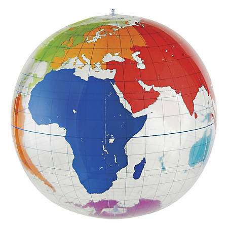 """Learning Resources® Inflatable Labeling Globe, 27"""" x 27"""""""