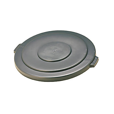Rubbermaid Commercial Brute 55-Gallon Container Lid - Round - Plastic, High-density Polyethylene (HDPE) - 1 Each - Gray