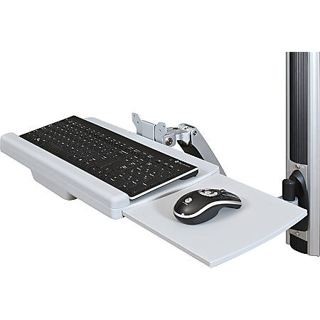 "Balt® HG Workstation Wall Mount Kit, Base Unit, Monitor Arm And Keyboard Tray, 34.65"" x 22.87"" x 7.91"", Gray, 66644"