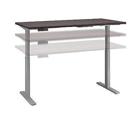 "Bush Business Furniture Move 60 Series 60""W x 30""D Height Adjustable Standing Desk, Storm Gray/Cool Gray Metallic, Premium Installation"