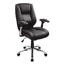 Realspace Eaton Mid Back Bonded Leather