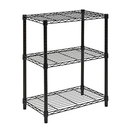 Honey-Can-Do SHF-01905 3-Tier Steel Urban Adjustable Storage Shelving Unit, Black