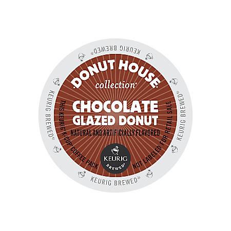Donut House® Chocolate Glazed Donut Coffee K-Cup® Pods, Box Of 24