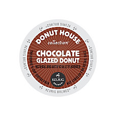 Donut House Chocolate Glazed Donut Coffee