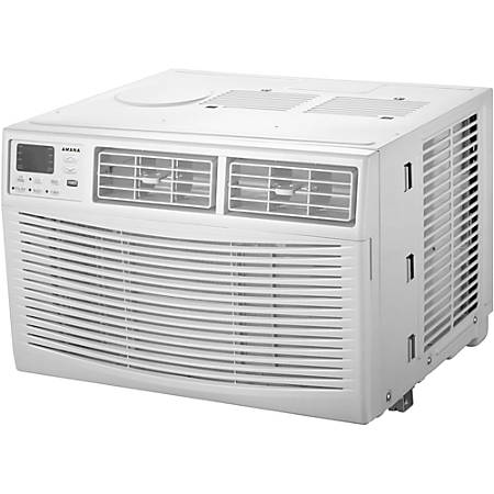 """Amana Energy Star Window-Mounted Air Conditioner With Remote, 12,000 Btu, 14 3/4""""H x 21 1/2""""W x 19 13/16""""D, White"""