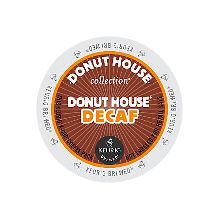 Donut House Decaffeinated Coffee K-Cup® Pods, Box Of 24 Pods