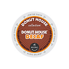 Donut House Decaffeinated Coffee K Cup