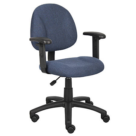 Boss Posture Mid-Back Task Chair, Black/Blue